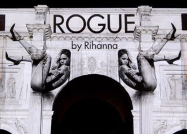 Rihanna 'Rogue' perfume projection on Marble Arch, London, Brirtain - 09 Sep 2013