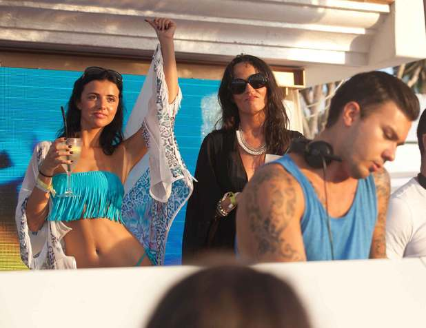 Lucy Mecklenburgh wears blue bikini at Ocean Beach Ibiza - 9 September 2013