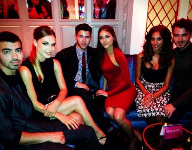 Kevin Jonas, Danielle Jonas, Nick Jonas, Olivia Culpo, Blanda Eggenschwiler, Joe Jonas at US Weekly Most Stylish New Yorkers Party (10 September 2013)