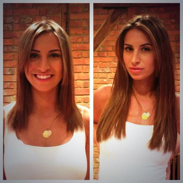 TOWIE's Ferne McCann gets hair extensions - 11 September 2013
