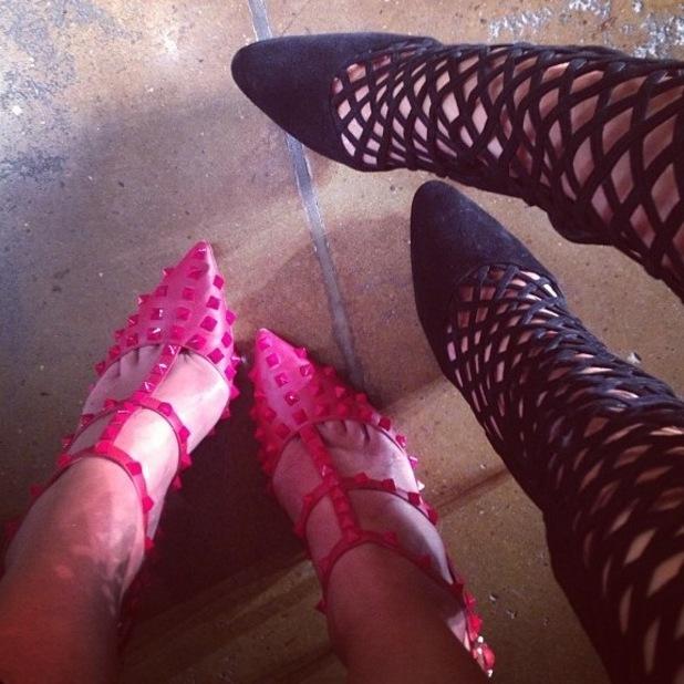 Paris Hilton, Nicky Hilton at New york Fashion Week, 11 September