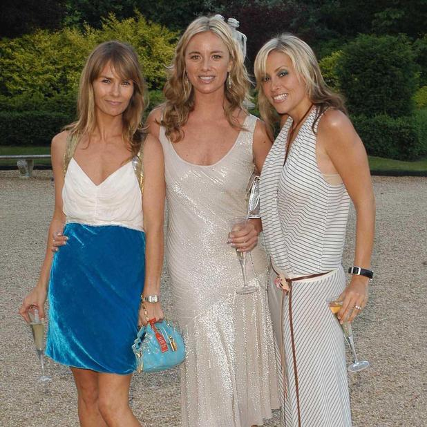 Tamzin Outhwaite and Nicole Appleton with a friend at the Louis Vuitton classic VIP party, Waddesdon Manor, Buckinghamshire, 5 June 2004