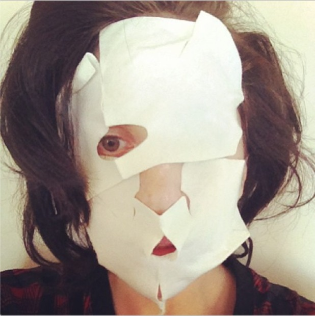 Lady Gaga's weird Instagram snap with face masks on, 14 September 2013