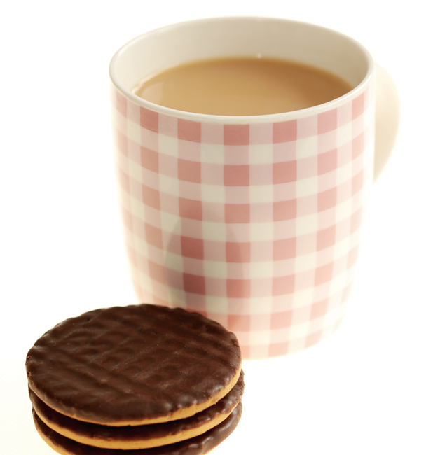 Chocolate digestives are Britain's best dunkers!
