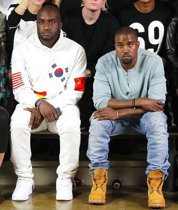 Hood by Air show, Spring Summer 2014, Mercedes-Benz Fashion Week, New York, America - 08 Sep 2013 Kanye West and Virgil Abloh