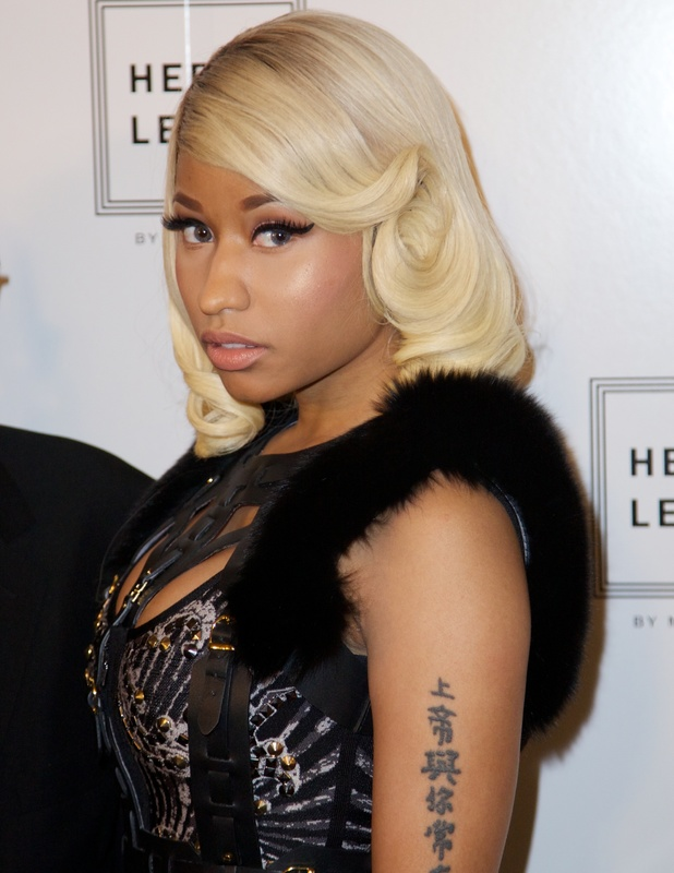Awe Inspiring Nicki Minaj39S New Hair Sophisticated Blonde Bob With Retro Curls Short Hairstyles Gunalazisus