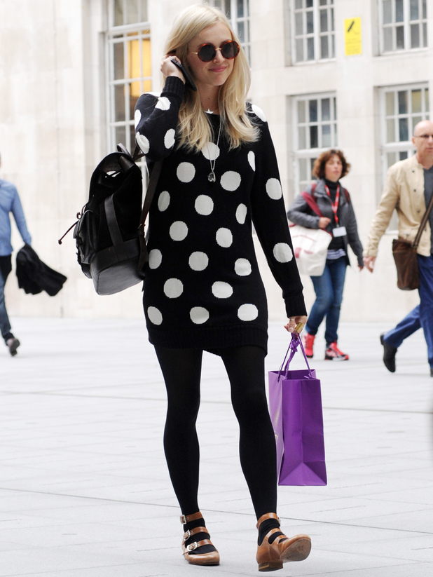 Fearne Cotton arrives at the BBC Radio 1 studios - 9/9/2013