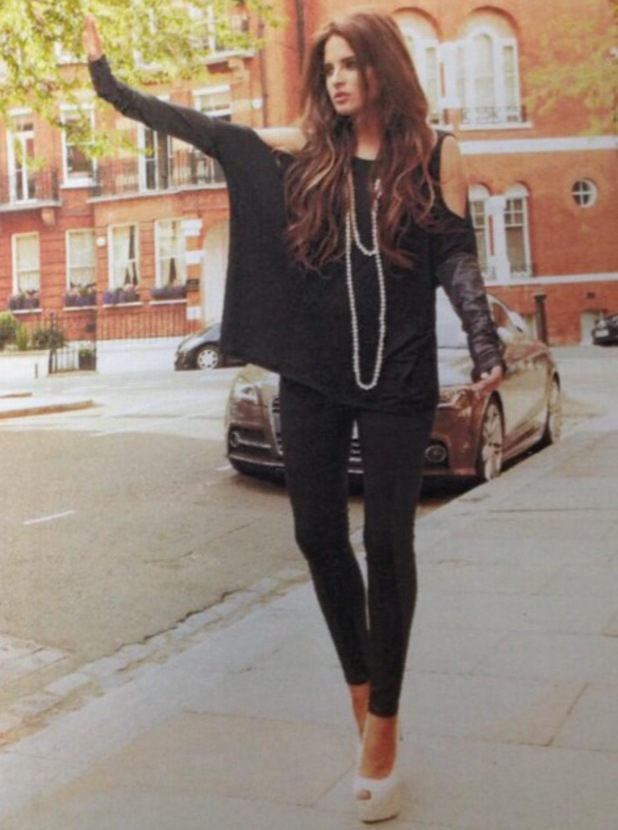 Binky Felstead models new Lipstick Boutique collection - Twitter picture posted on 10 September