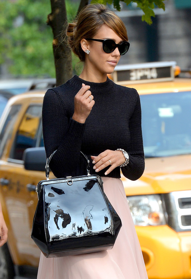 Jessica Alba out and about, New York, America - 12 Sep 2013