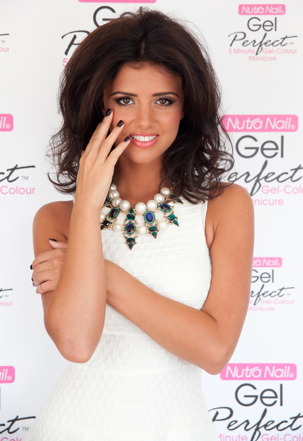TOWIE's Lucy Mecklenburgh poses as the ambassador for Nutra Nail Gel Perfect Manicure Kit