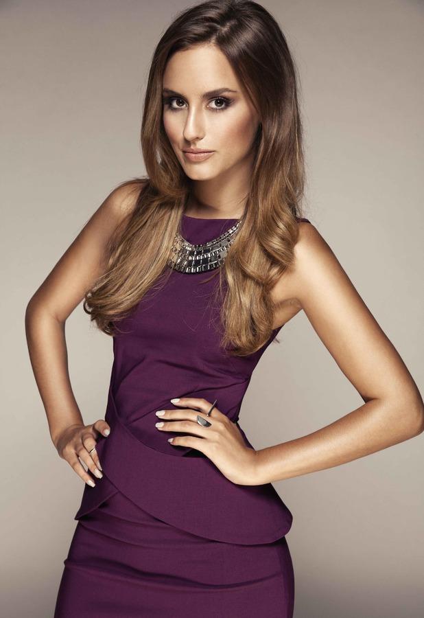 Lucy Watson models for Vesper dresses