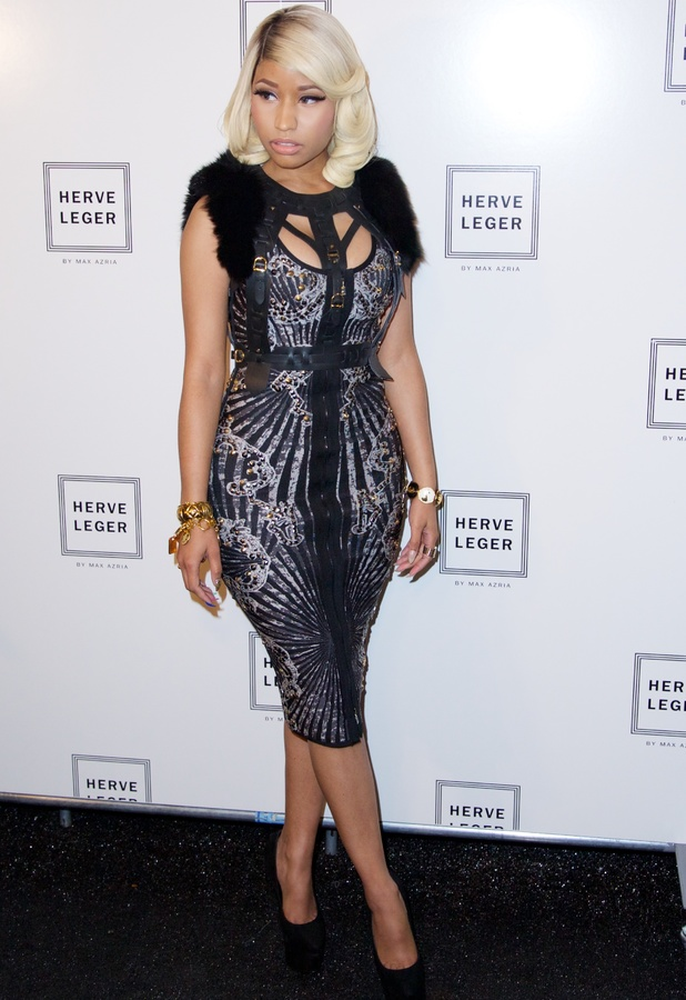 Nicki Minaj at The Herve Leger by Max Azria Spring 2014 Runway Show Collection - 7 September