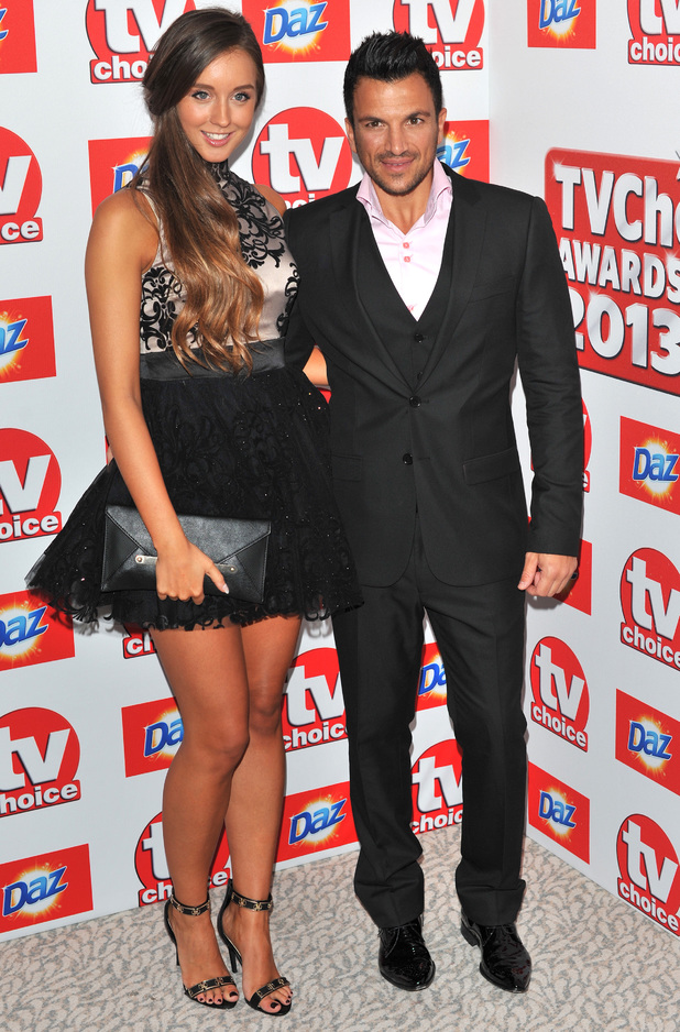 Emily MacDonagh and Peter Andre, The TV Choice Awards 2013 held at the Dorchester - Arrivals, 9 September 2013