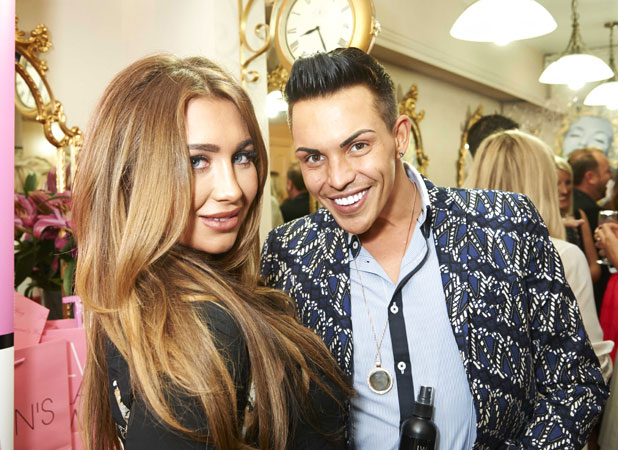Bobby Cole Norris and Lauren Goodger at London Hair Fashion Week in association with Tatiana Hair Extensions, 11 September 2013