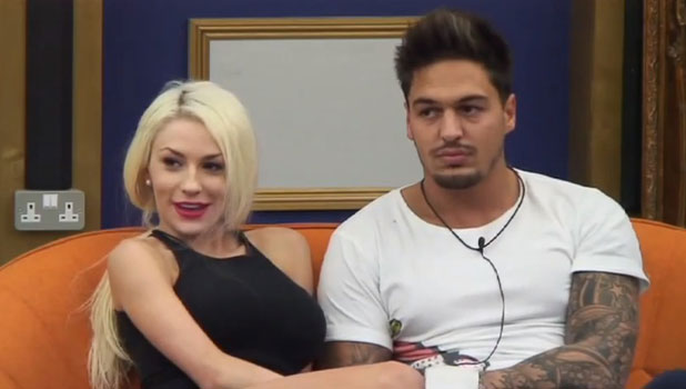 Courtney Stodden and Mario Falcone during nominations on Celebrity Big Brother 2013