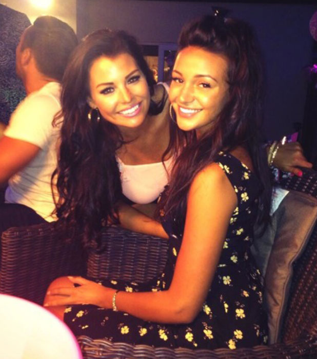 Jessica Wright and Michelle Keegan together in August 2013.