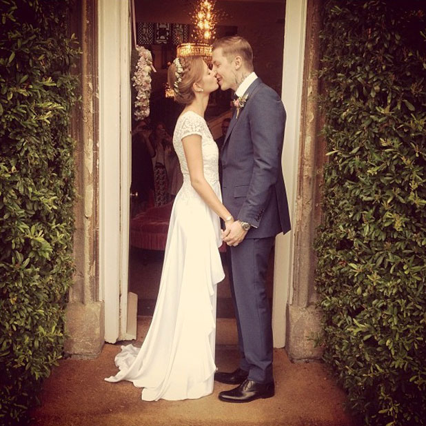Millie Mackintosh and Professor Green marry in Somerset, 10 September 2013