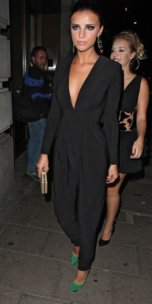 Lucy Mecklenburgh on a night out in London, 03/09/13