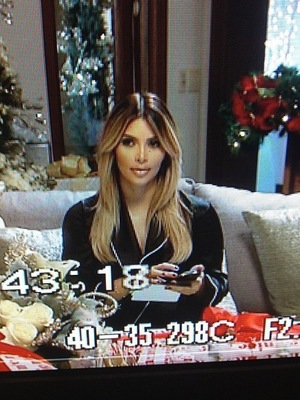Kim Kardashian films a Christmas special with her family - 17 September 2013