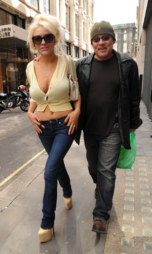 Courtney Stodden and husband Doug Hutchison spotted in London Credit :WENN.com Special Instructions :