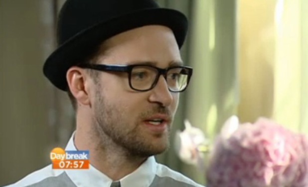 Justin Timberlake appears on ITV1's Daybreak - 20 September 2013