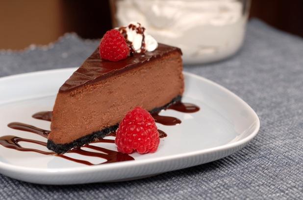 Baked dark chocolate and ginger cheesecake recipe