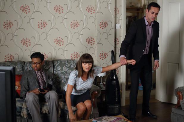 EastEnders, Michael grabs Alice, Tue 24 Sep