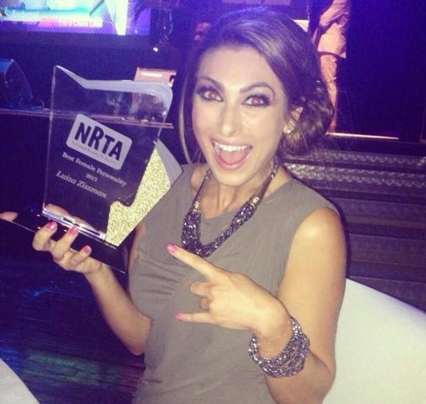 Luisa Zissman wins Best Female Personality at Reality TV Awards - 16 September 2013