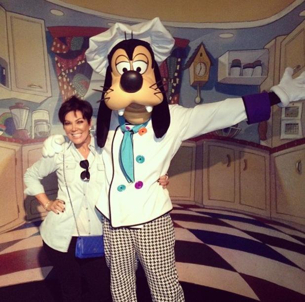 Kris Jenner visits Disneyland, California - 18.9.2013