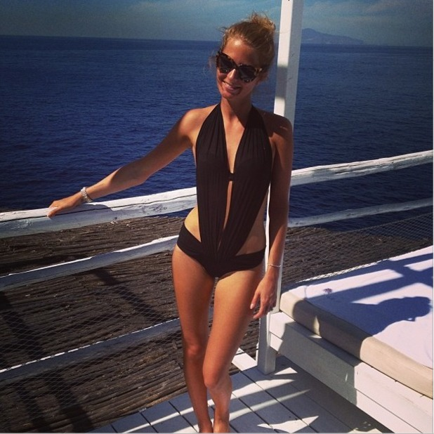 Millie Mackintosh shows off her bikini body as she unwinds on honeymoon in Italy with Professor Green, Sept 21 2013