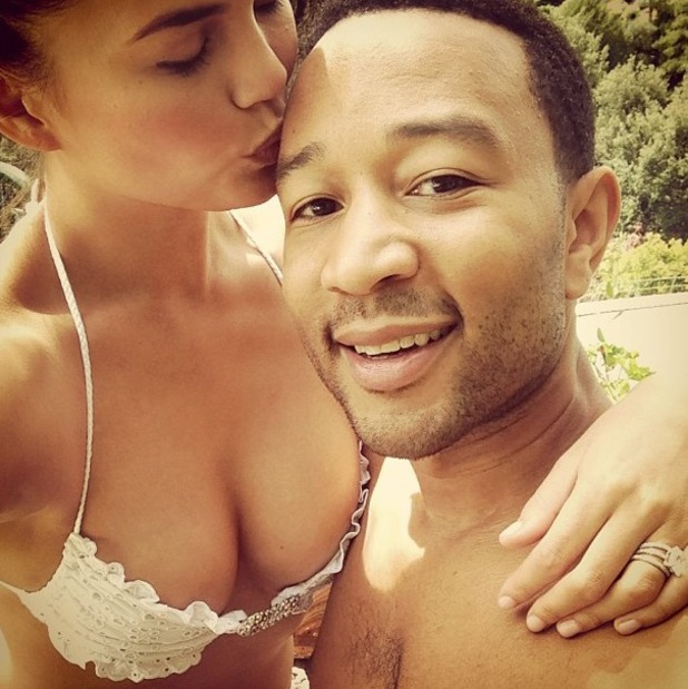 John Legend and his wife Chrissy Teigen on honeymoon in Italy