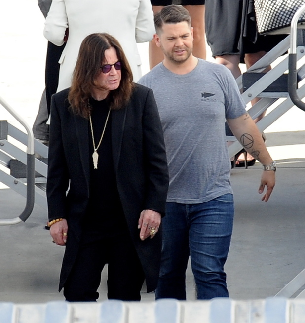 JACK OSBOURNE gets full support from parents SHARON and OZZY OSBOURNE for the first day of Dancing With The Stars in Los Angeles. Jack also got a visit from wife LISA.