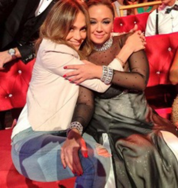 Jennifer Lopez and Leah Remini at Dancing With The Stars, 16 September 2013