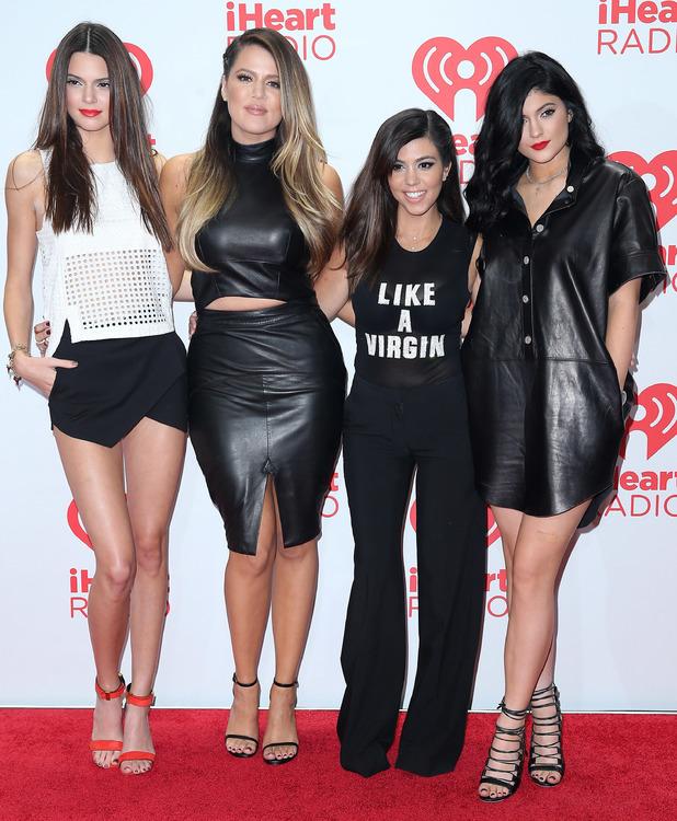 Kendall Jenner, Khloe Kardashian Odom, Kourtney Kardashian and Kylie Jenner attend iHeartRadio Music Festival Day 2 (MGM Grand Garden Arena, Las Vegas) - 22 Sept 2013