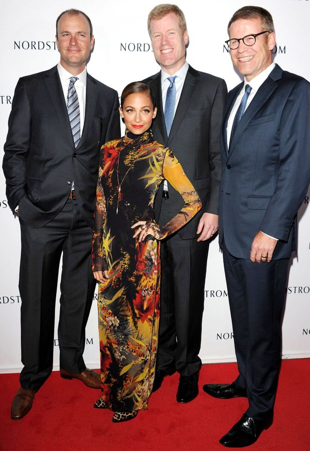 Nicole Richie with the Nordstrom brothers at Nordstrom Gala to benefit Ascencia and Hillsides, Los Angeles, America - 17 Sep 2013