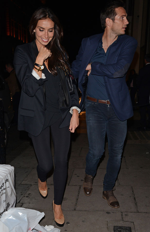 Celebrities at the Nobu Berkeley restaurant, London, Britain - 19 Sep 2013 Christine Bleakley and Frank Lampard