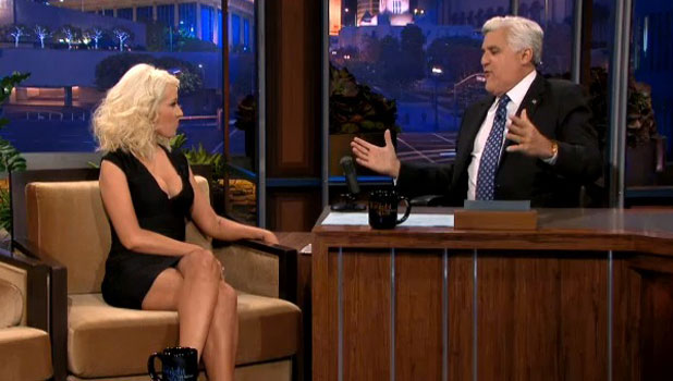 Christina Aguilera on Jay Leno Show in the US, 18 September 2013