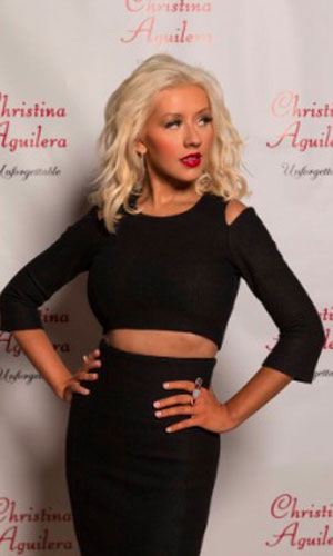 Christina Aguilera at her Unforgettable fragrance launch, 10 September 2013