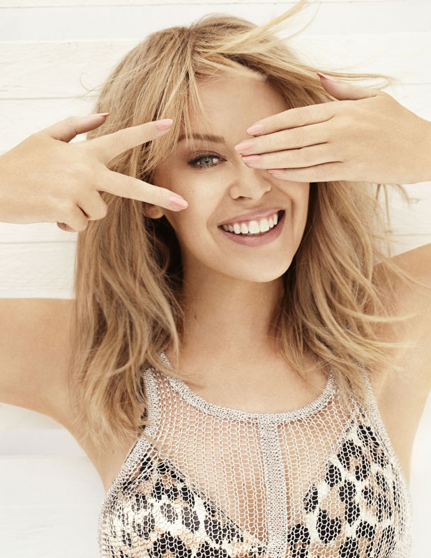 Kylie Minogue's publicity shot for The Voice UK series three