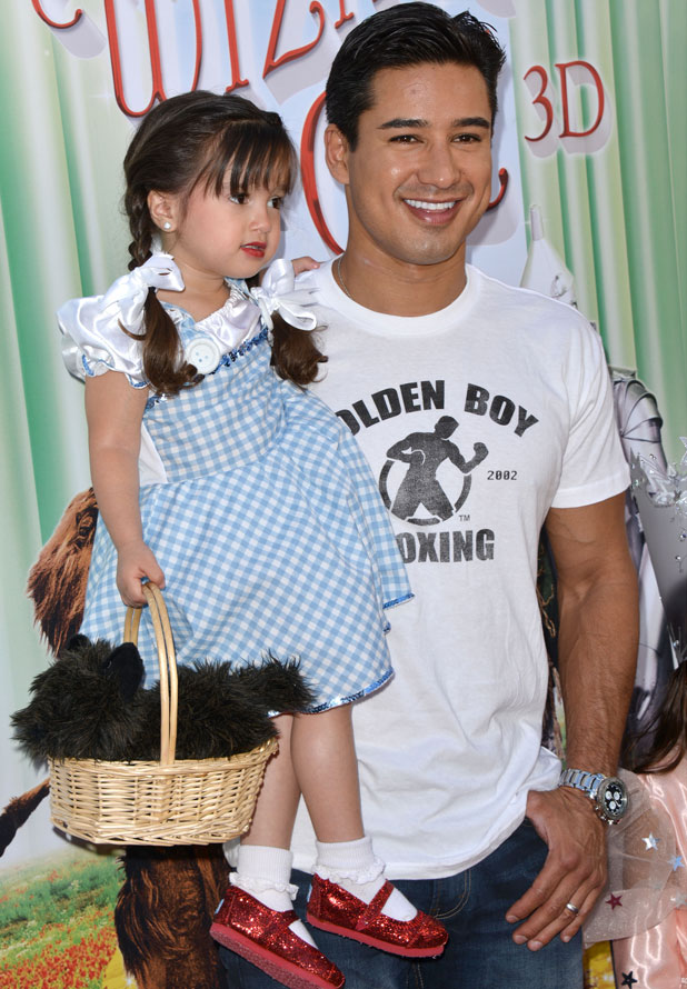 'The Wizard of Oz in IMAX 3D' film screening, Los Angeles, America - 15 Sep 2013 Mario Lopez and daughter Gia Francesca Lopez