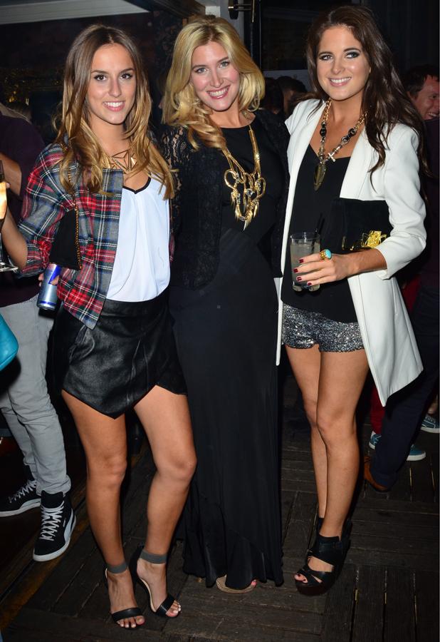 Big Smoke PR launch party at the Sanctum Soho Hotel Lucy Watson, Francesca Hull, Binky Felstead Credit :CREDIT ONLY: Joe Alvarez Date Created :09/18/2013 Location :London, United Kingdom