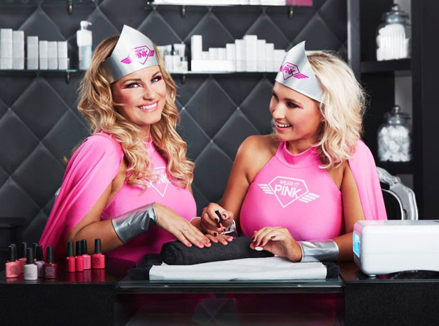 Sam and Billie Faiers in Breast Cancer Campaign's 2013 publicity shots