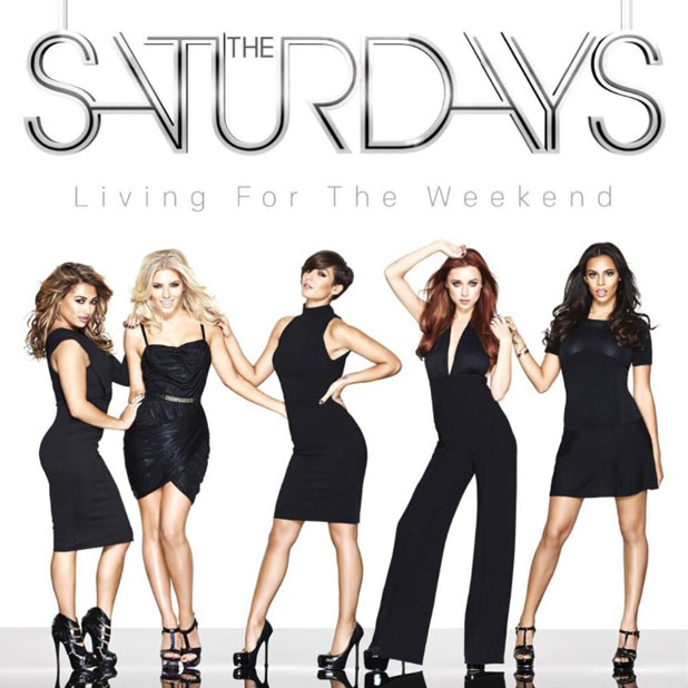 The Saturdays album cover for Living For The Weekend