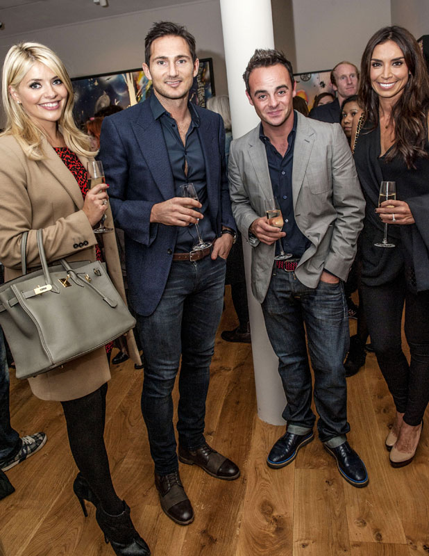 Frank Lampard, Holly Willoughby, Christine Bleakley, Ant McPartlin at Dan Baldwin: Fragile - private view art exhibition - Arrivals, 19 September 2013