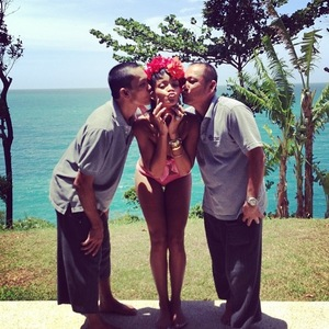 Rihanna poses in various pieces of swimwear while on trip to Thailand - 21.9.2013