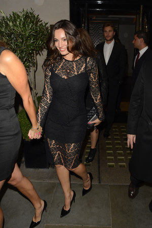 Kelly Brook returning home after going out in London - 24.9.2013