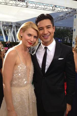 Mario Lopez and Claire Danes at the Emmy Awards - 22.9.2013
