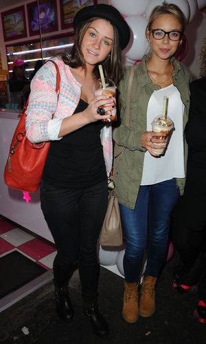 Brooke Vincent, Sacha Parkinson - 23.9.2013 Celebrities from Coronations Street and Emmerdale arrive for the Opening of Archies Burgers and Shakes Oxford Road Manchester