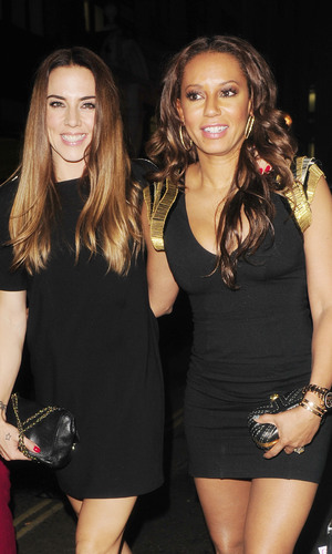 Celebrities at Strictly Come Dancing crew party at Disco Nightclub, London, Britain - 21 Sep 2013 Melanie Chisholm and Melanie Brown