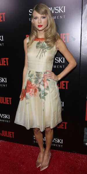 Taylor Swift at the film premiere of Romeo and Juliet in Los Angeles, 24 September